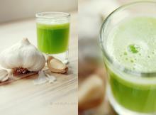 Sok iz zelene in česna za dvig imunosti