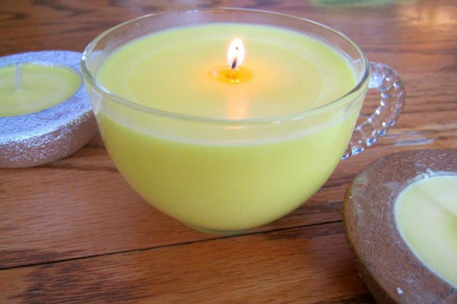 Doma narejene sveče iz sojinega voska